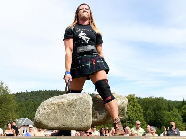 29-year-old Australian has become the first woman in almost 40 years to lift Scotland's famous Dinnie Stones