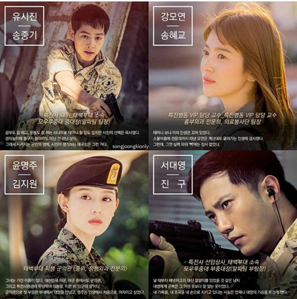 Image result for gambar poster descendants of the sun