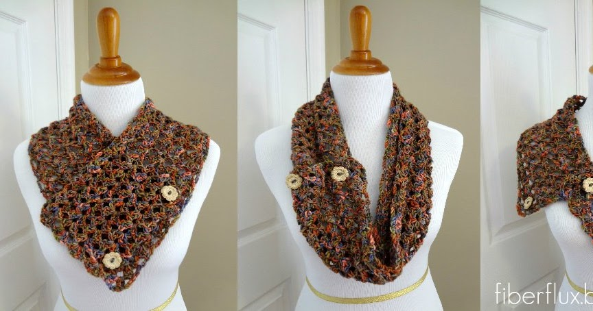 Free Crochet Pattern...Flower Patch Button Wrap