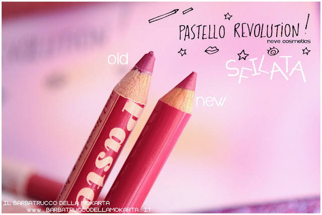 sfilata differenze BioPastello labbra Neve Cosmetics  pastello revolution