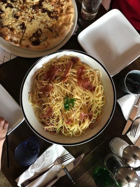 spaghetti carbonara at prezzo