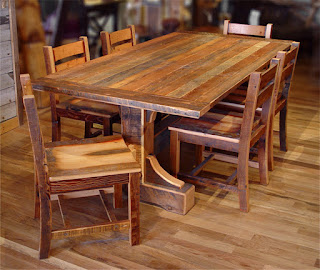 Chic Small Dining Room Among Barn Wood Furniture