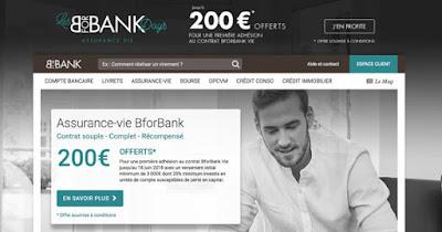 Offre BFORBANK assurance vie : 200€ offerts
