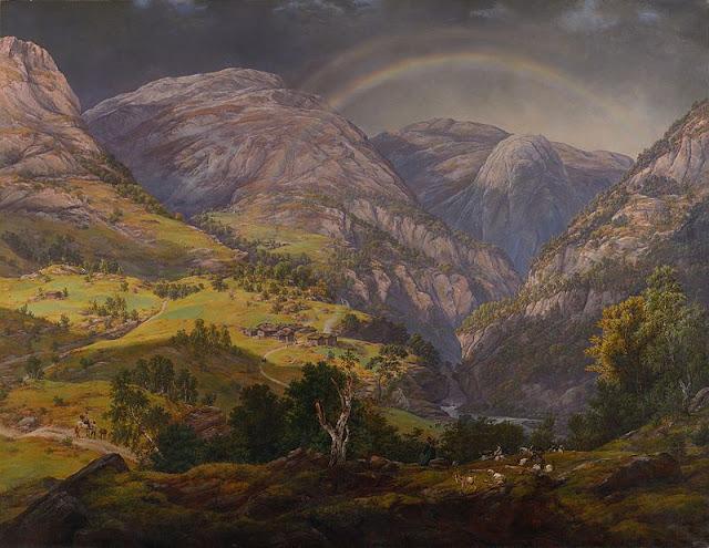 Johan Christian Dahl : Vue de Stalheim (1842) peintre romantique
