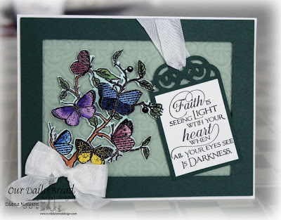 Our Daily Bread Designs, Faith, Quote Collection 3, Recipe and tag die, Quatrefoil Pattern die, Butterfly Branch Die