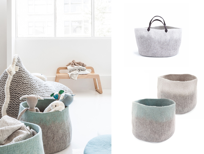 storage baskets from Rafa-kids collection