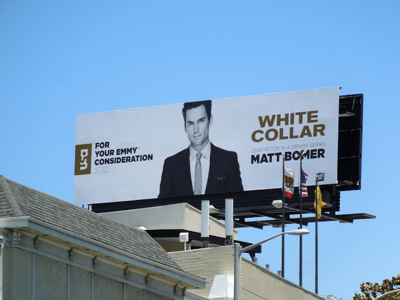 Matt Bomer White Collar Emmy billboard