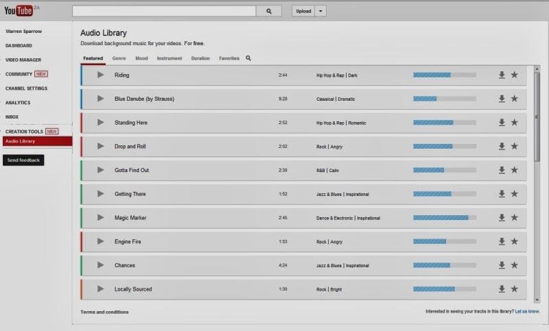 Warren Sparrow: YouTube Audio Library