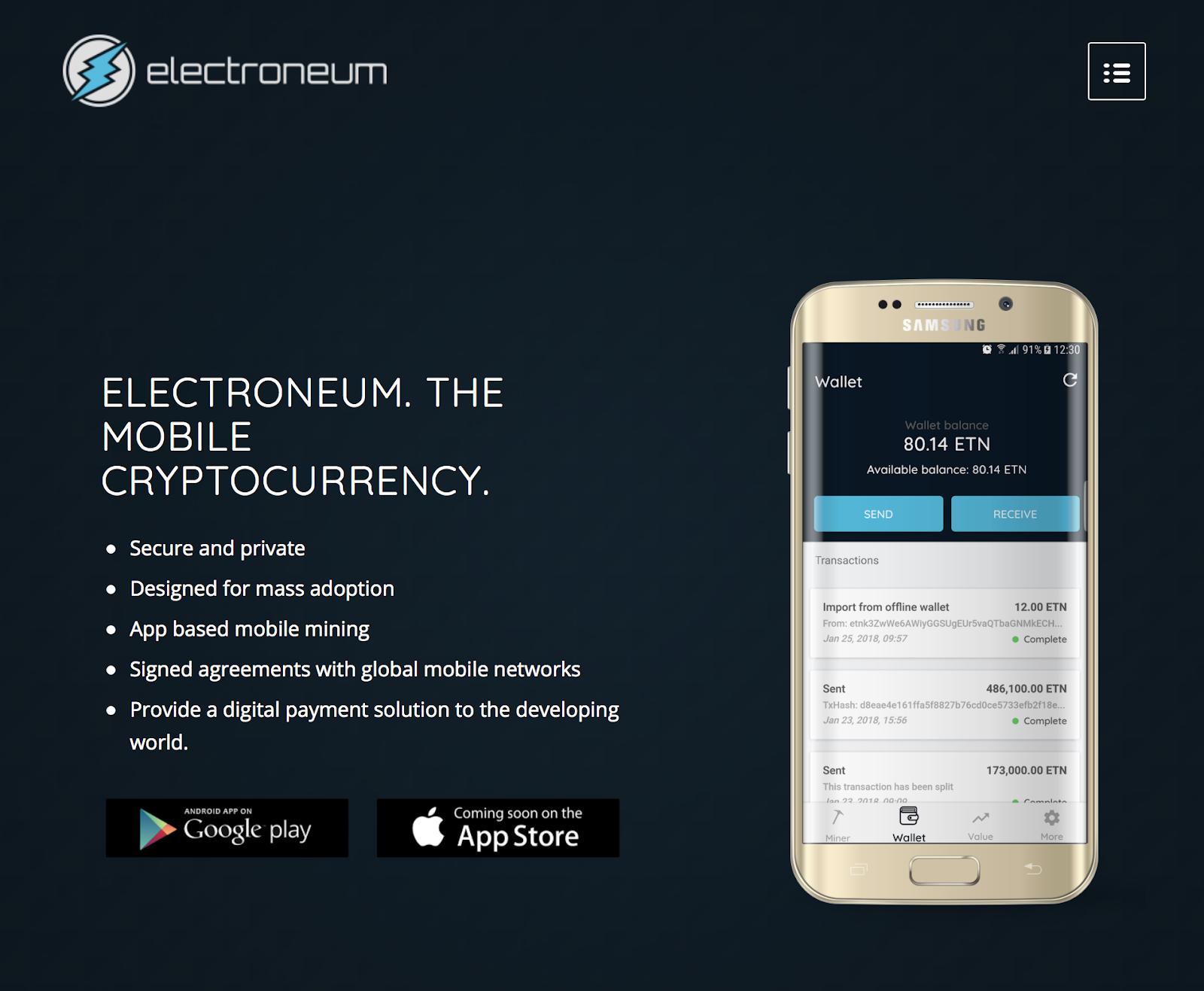 Cos'è Electroneum