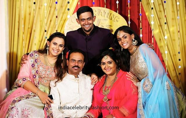 Yesteryear Actress Radha Family Photo