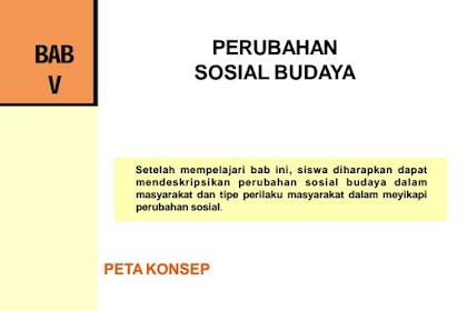 Jawaban PG Bab 5 IPS Kelas 9 Halaman 125 (Perubahan Sosial Budaya)