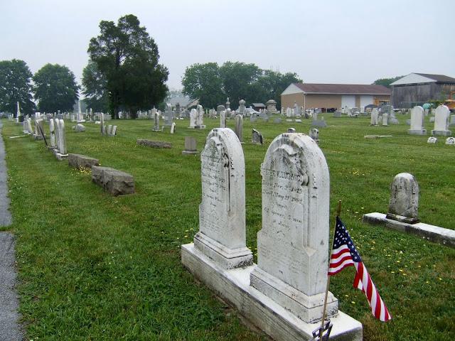 tombstones in Pennsylvania graveyard