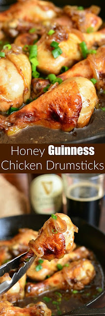 Honey Guinness Chicken Drumsticks