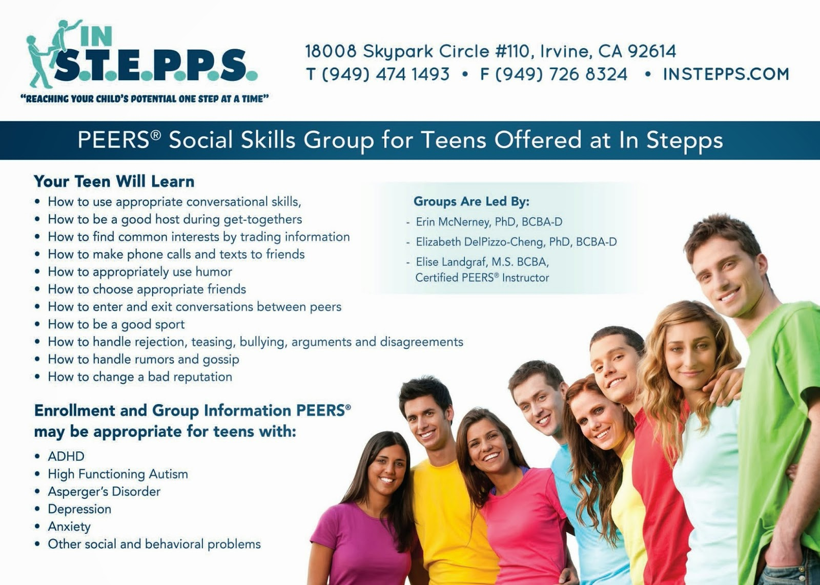 IN S T E P P S: PEERS Social Group for Teens