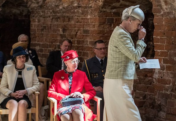 Queen Margrethe, Princess Benedikte and Queen Anne-Marie of Greece attended the opening of The Splendour of Power exhibition at Kolding Castle