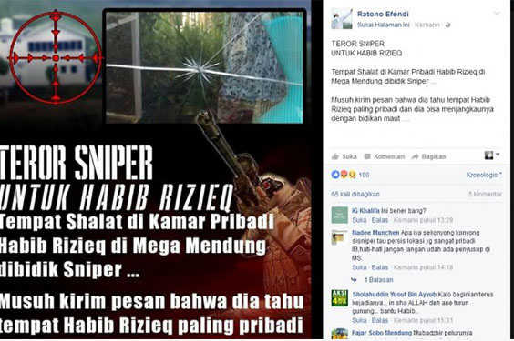 Apa Benar Rumah Rizieq di Teror Sniper?