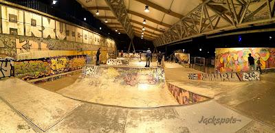 Skatepark Bercy éclairé couvert