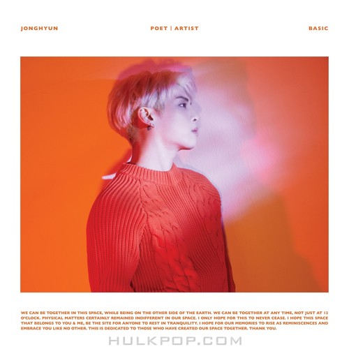 DL MP3] JONGHYUN - Poet|Artist (FLAC + ITUNES PLUS AAC M4A