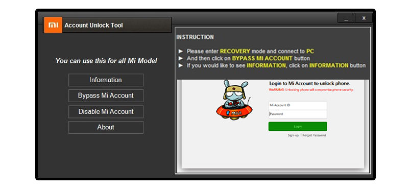 Mi Account Unlock Tool 2018 - FIRMWARE DOWNLOAD
