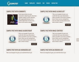 Geemozo Responsive Blogger Template