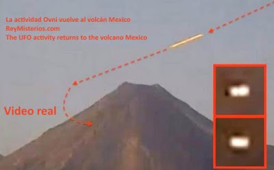 UFO seen near Mexico volcano is PROOF of alien base - shock claim Planet-Today.com