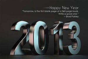 Happy New Year 2013 with quote