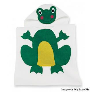 Mud Pie Frog Bath Poncho