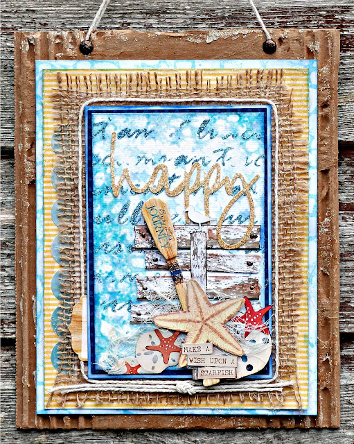Wish Upon A Starfish Tracee Provis Bo Bunny mixed media off the page Boardwalk 01