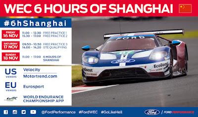 WEC · El equipo Ford buscará sumar un hat-trick en Shanghái.