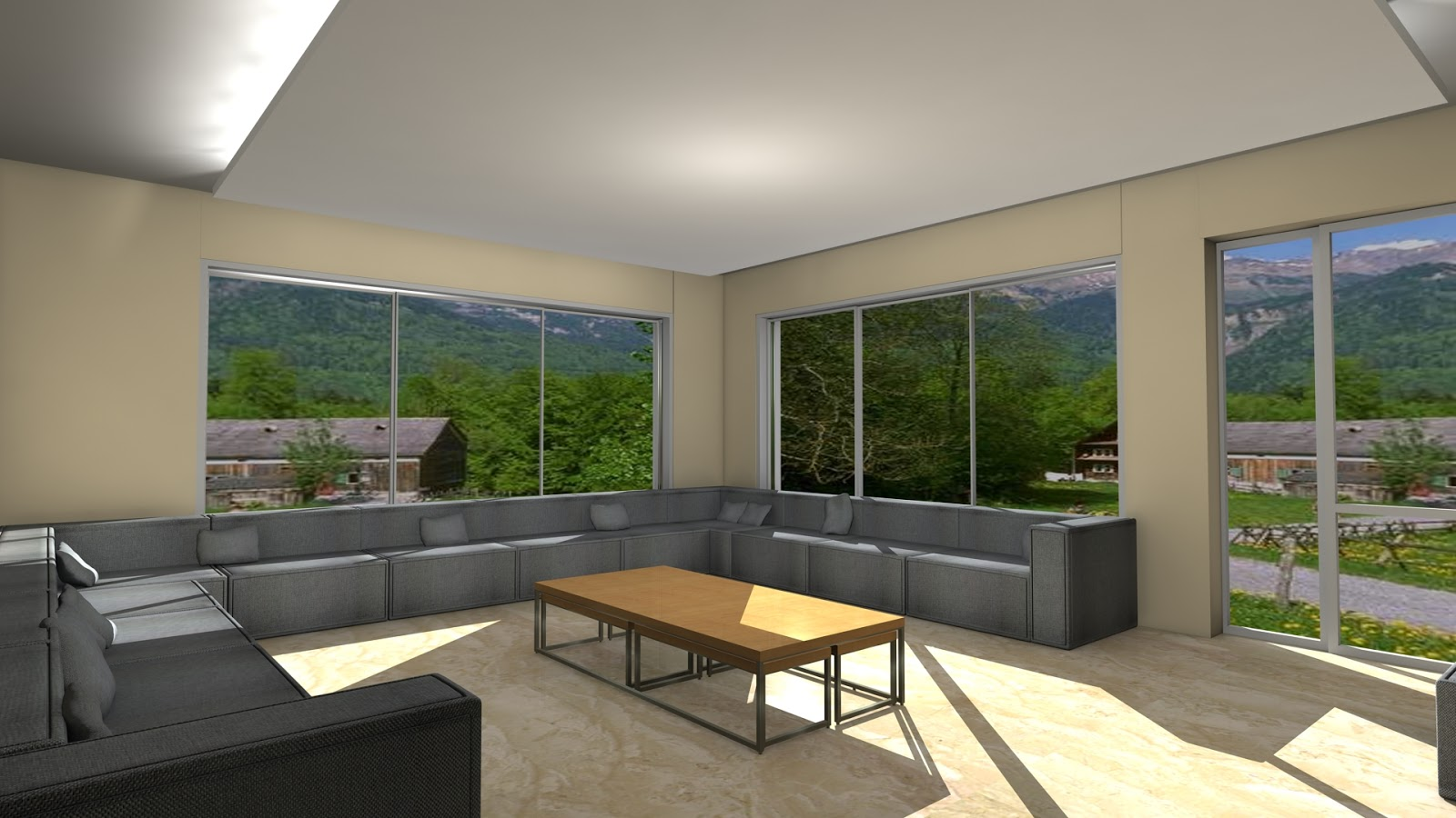 Sajid designer: Living room 3d model interior design 3ds max