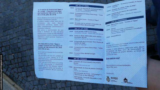 Festival da Água e do Tempo, Clepsidra 2018 de Castelo de Vide, Portugal (MAPS, Event)