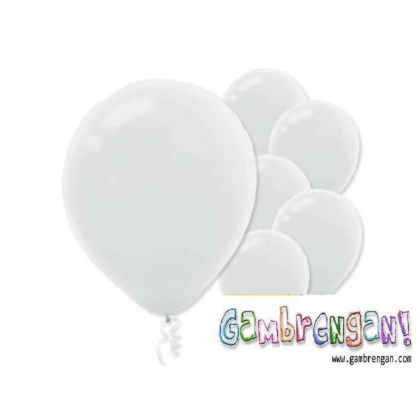 Balon dekorasi Putih