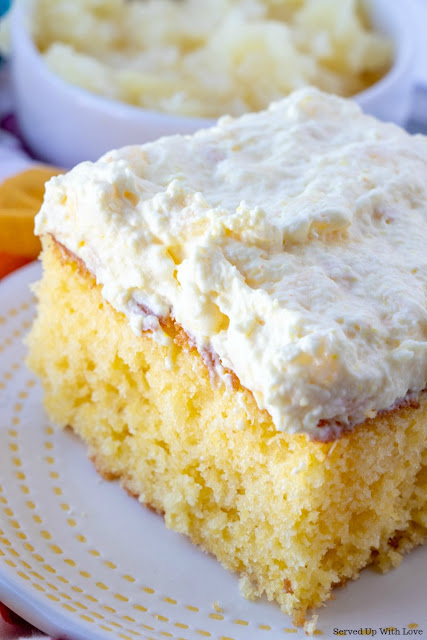 Easy Pineapple Sunshine Cake recipe from Served Up With Love