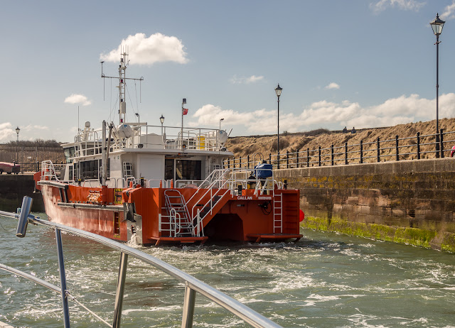 Photo of Callan arriving at Maryport Marina on Monday