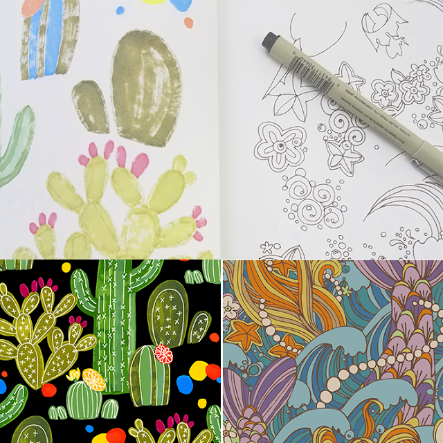 sketchbooks, Pamela Farmer, Pattern Design, Art Process, Sketchbook Conversations, My Giant Strawberry
