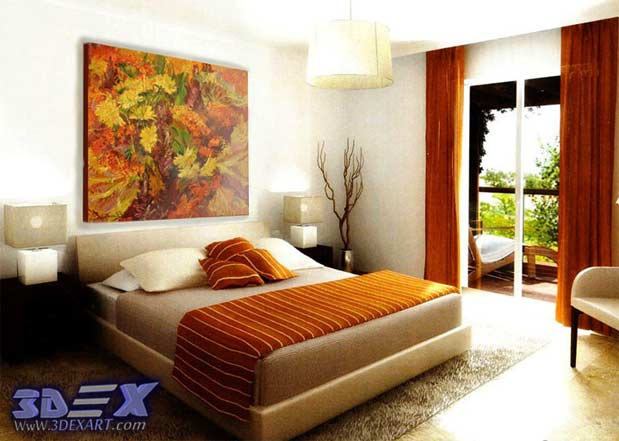Oil Painting On Canvas, Oil Paintings, Bedroom Wall Art