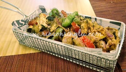 verduritas en frituras y langostinos sin gluten en madrid as de bastos