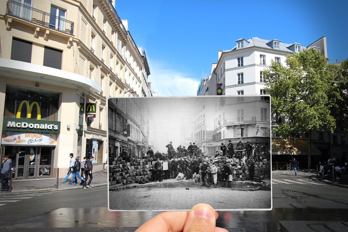20 Amazing Then and Now Photos That Show How Much Paris Has Changed ...