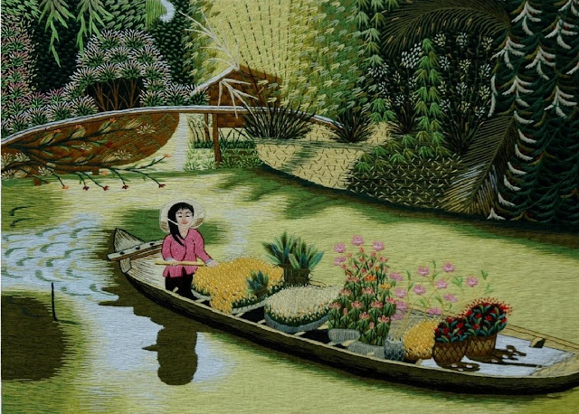 Embroidered picture from Vietnam