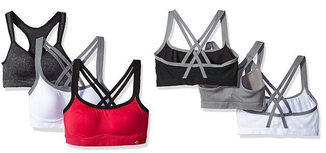 Lily of France 3 Pack Medium Impact Active Bra $16 (reg $105?!?!)