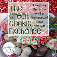 Everything you need to host a mathematical cookie exchange in 4-6th grades.