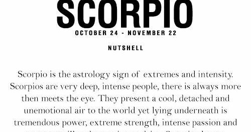 Scorpio in a nutshell