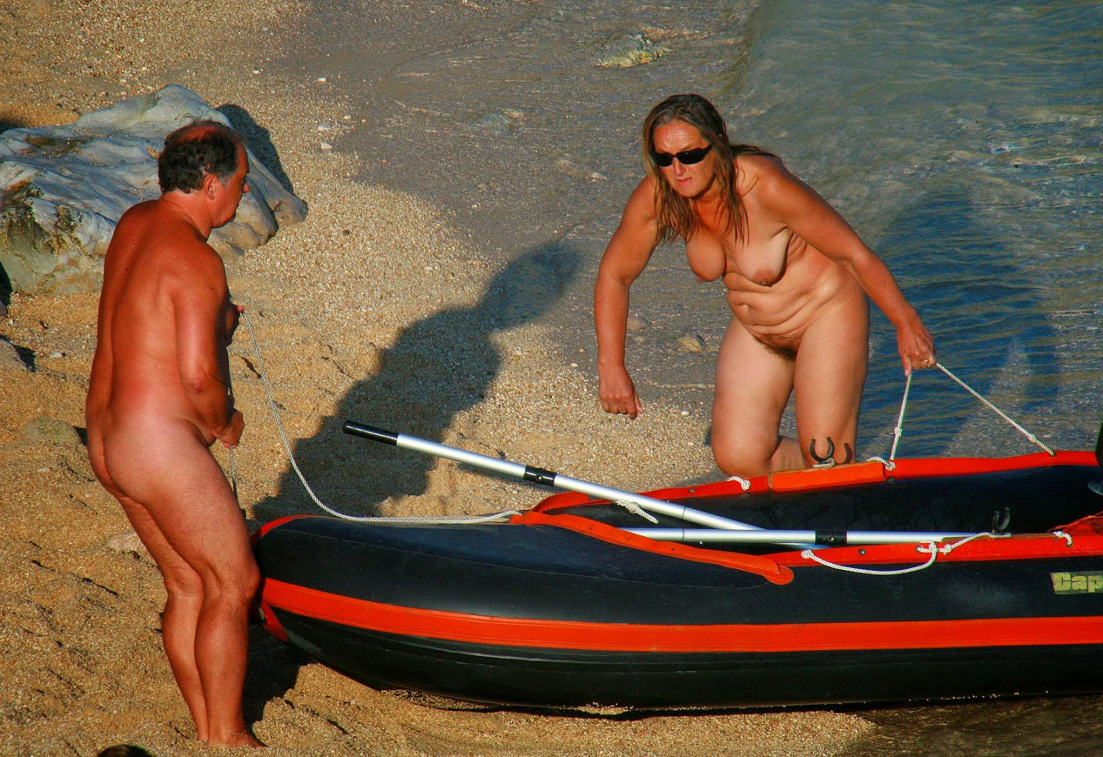 Nudism - Photo - Hq  Family Nudism - Camp And Boat-7732