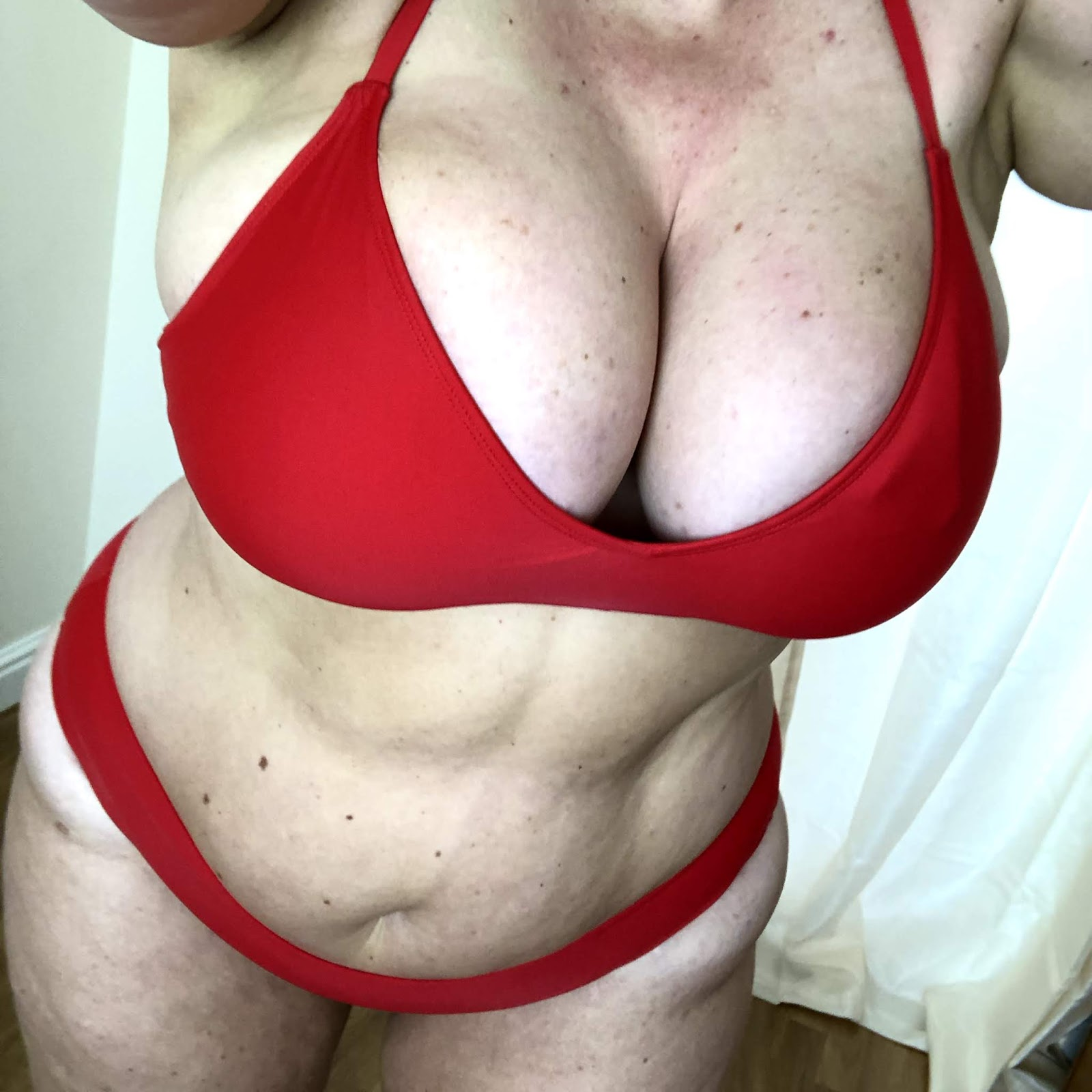 Forever 21+ Red Triangle Bikini