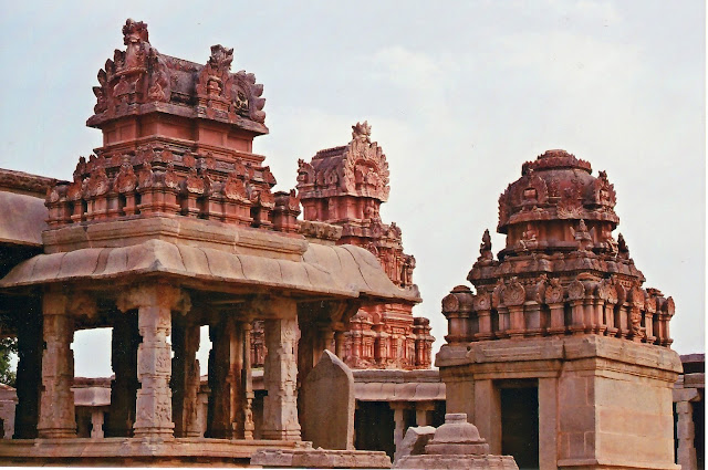 Goddess temple near the main sanctum Bala Krishna Temple- Hampi