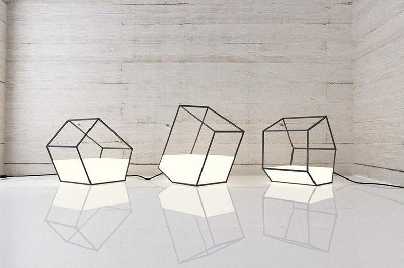 Lamparas geométrica Living light por Nisha Kinjalina