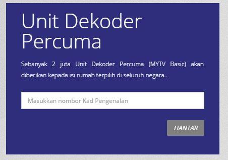 permohonan mytv malaysia , pengedar mytv , dekoder mytv
