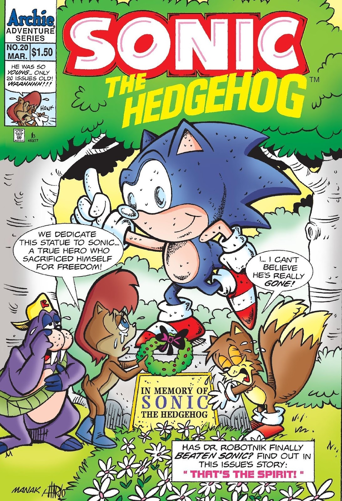 Hedgehogs Can T Swim Sonic The Hedeghog Issue 20