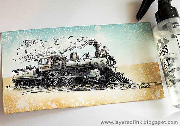 Layers of ink - Scenic Train Card Tutorial by Anna-Karin Evaldsson with Ranger Specialty Stamping paper