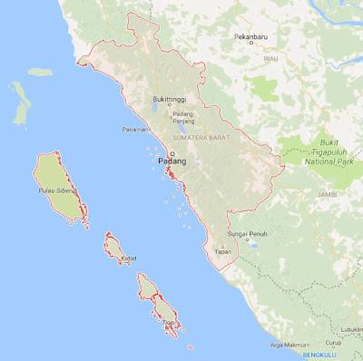 Peta Wilayah Provinsi Sumatera Barat